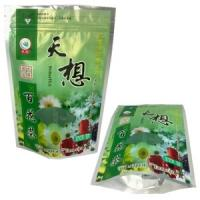 Quality 100g, 250g Stand up Tea packaging bag with zipper,  Coffee / tea / cocoa / cookies for sale