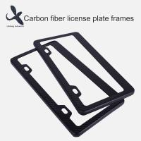 Quality Custom Designs Hot Selling USA Canada Style two holes Carbon Fiber License  Plate Frame Wholesale for sale