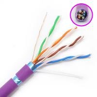 Quality FTP Category Cat5e Network Cable HDPE Insulation With Purple Color Jacket for sale
