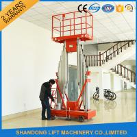 Quality 200kg Capacity 12m Height Hydraulic Aluminium Ladder Aerial Work Platform Lift With CE for sale
