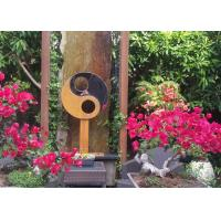Quality Antique Corten Steel Garden Sculpture Abstract For Outdoor Decoration for sale