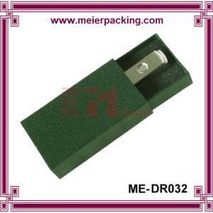 China U-disk paper drawer box, dark green art paper gift box, u-disk gift box ME-DR032 on sale
