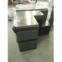 Quality Anti Corrosion Supermarket Metal Cash Table Used Grocery Store , Powder Coated for sale