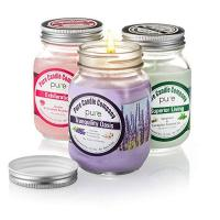 China Scented Candles In Square Glass Jar on sale