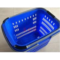 Quality Virgin PP Rolling Shopping Basket With Wheels  /  Store Trolley Shopping Basket for sale