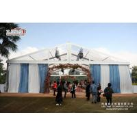 Buy cheap 300 People transparent Special Event Tent With Blue Curtain Decoration For Wedding Party from Wholesalers
