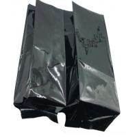 Quality Black Resealable Coffee Bags With Valve , Reusable Side Gusset Bag for sale