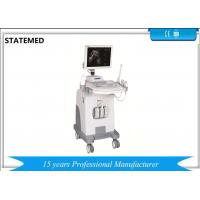 Quality Black And White Ultrasound Machine Trolley With Convex Probe For Pregnancy for sale