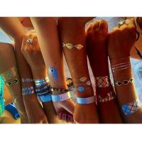 Quality Gold, silver,black,blue color temporary metallic flash tattoos(in stock) for sale