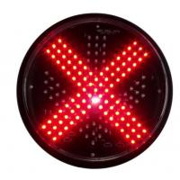 Quality 300mm IP55 Red Cross And Green Arrow Traffic Signal Light Modules for sale