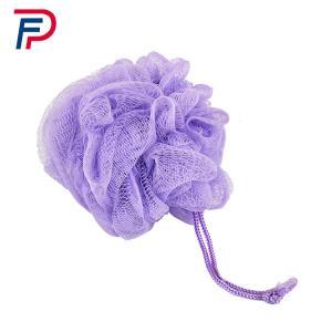 Quality Lovely Mesh Bath Pouf Body Sponge Scrubber , Net Bath Sponge Cordless Bathroom Scrubber,PP BATH SPONGE for sale