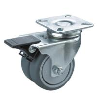 Quality twin wheels caster with brake for sale