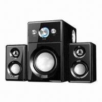 Quality Wooden Hi-Fi Multimedia Speakers with 25W Woofer Power and USB Jack for sale