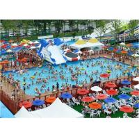 Quality Large Frame Outdoor Inflatable Water Park With Pool , Inflatable Backyard Water Park for sale