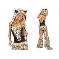 Quality Frisky Leopard Woman Sexy  Party Adult Costumes Five Piece For Holiday Carnival for sale