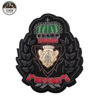 Quality Customized Color Custom Embroidered Logo Patches Resto With Heat Cut Border for sale