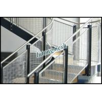 China Anping Gold color building cladding metal mesh for stair protective mesh on sale