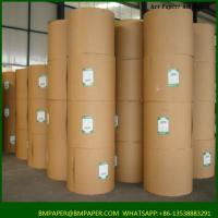 Quality 100gsm virgin brown kraft paper for printing or making shopping bags for sale