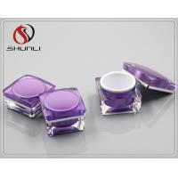 Quality square acrylic jar for cosmetic for sale