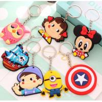 Quality Custom Creative Soft PVC Key Ring Cartoon Buckle Freestyle Injection With Color for sale