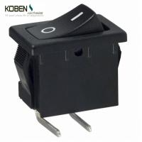 Quality Black Rocker Switch Parts 2 Pins R1966ABLKBLKFR E- Switch SPST 15A 125V for sale
