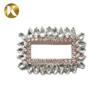 Quality Rectangle Style Crystal Shoe Buckles Outer Diameter 6.2cm*4.1cm for sale