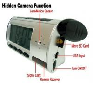 Quality Home Security Mini Alarm Clock DVR Spy Hidden Surveillance Camera Audio Video Recorder for sale