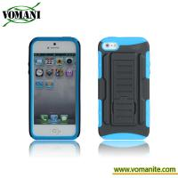 Quality PC+silicone case for iphone5, Belt clip cover, transformers design for sale