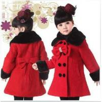 Quality Red Trendy Coat for Girl for sale