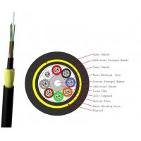 Quality 96 Core ADSS Optical Fiber Cable Outdoor Self Supporting Aerial Waterproof Jacket for sale