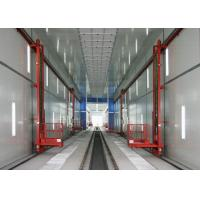 Quality 56 Meters Train / Truck Spray Booth High Efficient With Lifter Access Pit for sale