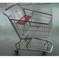 Buy PU Wheeled Grocery Shopping Trolley Powder Plated Climb Stairs Hand Cart at wholesale prices