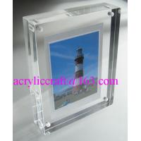 Quality Transparent Perspex / PMMA / Acrylic Photo Frame With Magnet 5X7 for sale