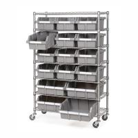 Quality Restaurant Supplies Strorage Mobile Wire Utility Cart 7 Layer Adjustable Every Shelf Height for sale