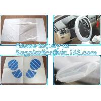 Quality Disposable plastic car seat cover universal, Industrial Disposable Wipes Synthetic Leather Car Seat Cover Synthetic Leat for sale