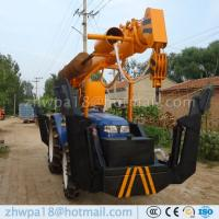 Quality Best price Post Hole Digger and Pole Crane Tractor Mounted Crane for sale