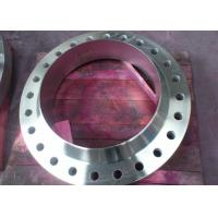 China PN20 - PN420 304 / 316 Forged Weld Neck Stainless Steel Pipe Flange WN RTJ Flanges on sale