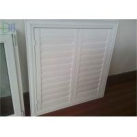 Professional Glass Jalousie Windows , Powder Coating White Window Shutters