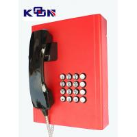 Quality Railway Red Emergency Phone Auto Dial Wearable Vandal Resistant for sale
