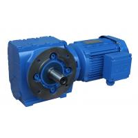 Quality Four series S series helical worm gear worm gear reducer hard tooth surface gear box S37-97 type S87 for sale