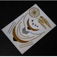 Quality 99 designs FDA Sexy Necklace jewlery star gold silver waterproof wholesale flash tattoos for sale