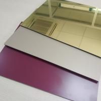 Quality High Reflective Rate Aluminum Mirror Sheet Glass Processing Anodized Stable for sale