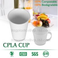China Blister molding biodegradable durable using coffe cup, cpla cup of blister molding, corn starch tea cup on sale