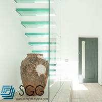 China clear laminated glass stair treads 6+6mm 8+8mm 10+10mm on sale
