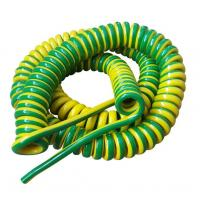 Quality Unshielded Spring Coiled Electrical Cable , 2 Core / 4 Core Curly Power Cord for sale