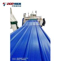 Quality PVC Roofing Sheet Plant Roof Tile Machine , Roof Roll Forming Machine ASA Resin for sale