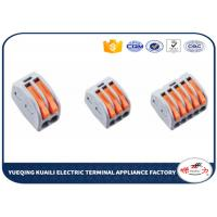 Quality Electrical Fast Push In Wire Terminal Block , Spring Wago Lever Connectors for sale