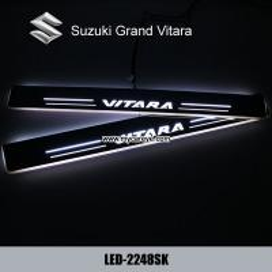 Quality Suzuki Grand Vitara LED door sill plate light moving door scuff Pedal lights for sale