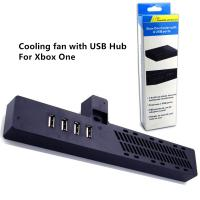 Quality Cooling Fan Cooler with 4 USB Port for Xbox One Black color with Gift Box package for sale