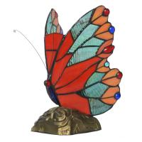Tiffany Style Stained Gl Red Erfly Accent Lamp Resin Lampbase Collection From Wholers